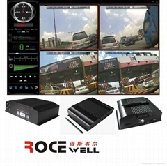 D1 H.264 realtime car surveillance video mobile DVR could be added 3G+GPS