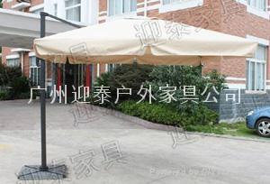 羅馬傘高檔遮陽傘戶外傘送大理石底座 1