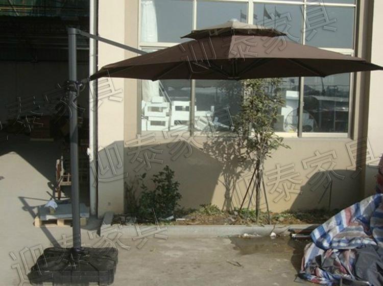 羅馬傘高檔遮陽傘戶外傘送大理石底座 3