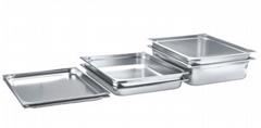 不鏽鋼份數盆食物液體週轉方盤