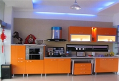 Kitchen Cabinet - Gloss Orange Laminate