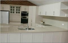 Kitchen Cabinet - White Lacquer Melamine & Blum