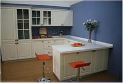 Kitchen Cabinet - White Lacquer Melamine DTC