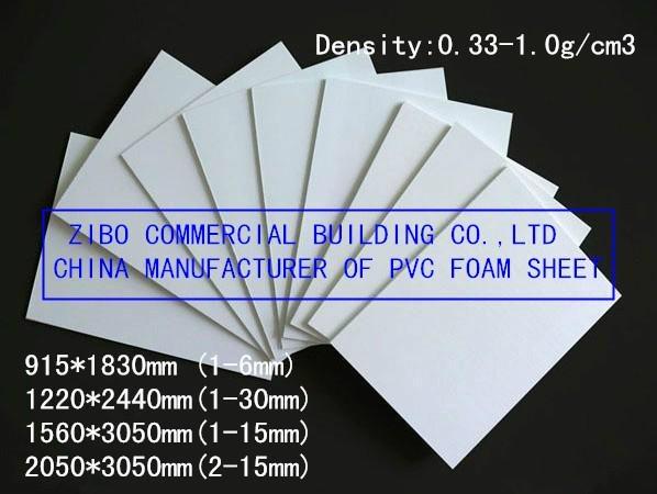 White PVC Foam Board, Lightweight Construction Material, Plastic Construction Fo 1