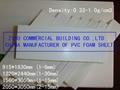 White PVC Foam Board, Lightweight Construction Material, Plastic Construction Fo 3