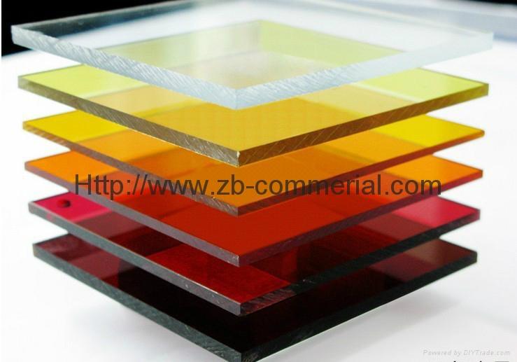 China Wholesale Color Cast Acrylic Sheet 4