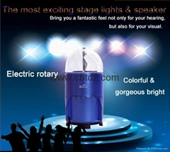 newest disco party projection lights speaker with USB SD TF memory card