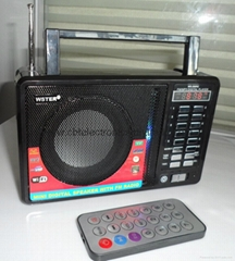 FM radio recorder speaker with USB SD TF card reader