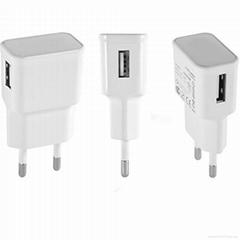 EU plug 5V/1A Single port USB Travel Charger