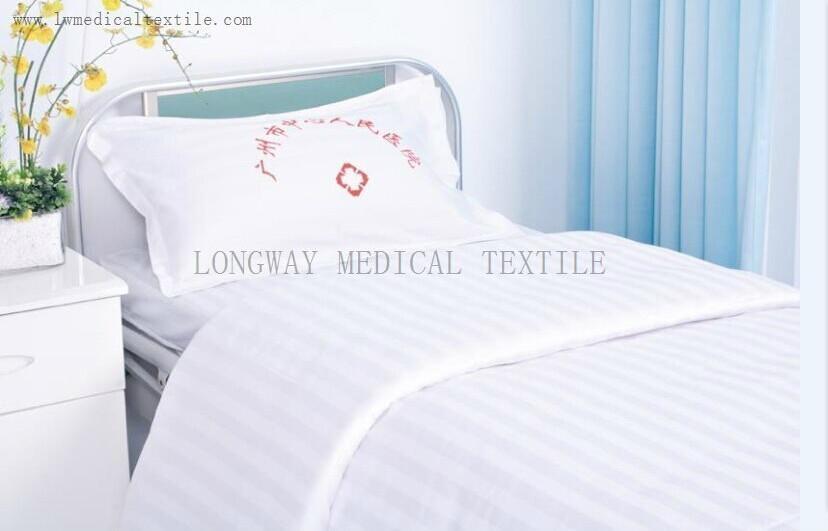 bleached white Hospital Bed Linen (bed sheet, pillow case duvet cover) 1