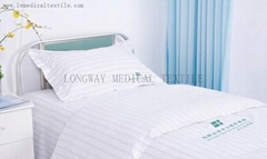 satin stripes Hospital Bed Linen