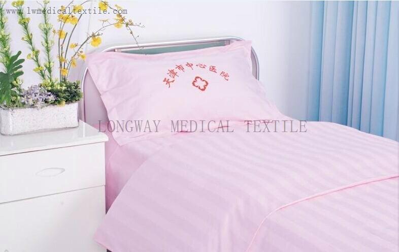 satin stripes Hospital Bed Linen  2