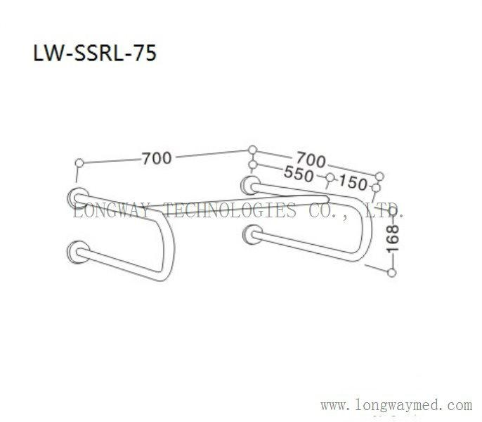 LW-SSRL-75 Stainless Steel Hand Rail for bathroom basin 2