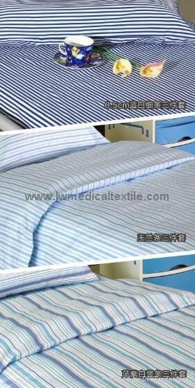 2cm yarn dyed stripes Hospital Bed Linen  5
