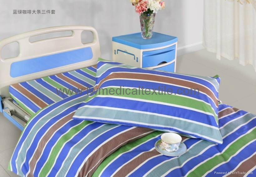 2cm yarn dyed stripes Hospital Bed Linen  2