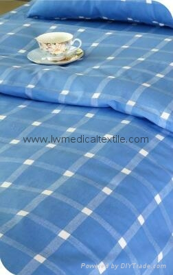checked Hospital Bed Linen (bed sheet, pillow case and duvet cover) 1