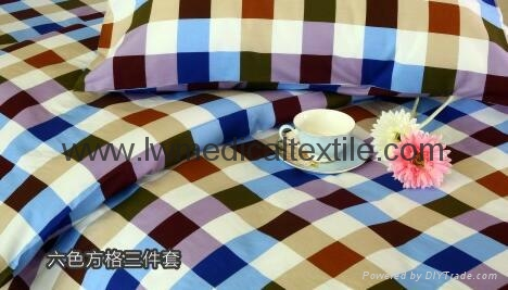 checked Hospital Bed Linen (bed sheet, pillow case and duvet cover) 6