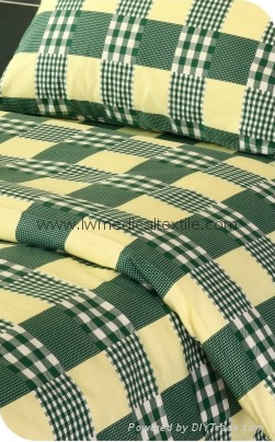 checked Hospital Bed Linen (bed sheet, pillow case and duvet cover) 7