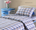 checked Hospital Bed Linen (bed sheet, pillow case and duvet cover)