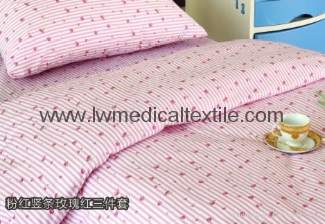 Hospital Bed Linen with carton design (bed sheet, pillow case duvet cover)  2
