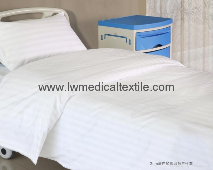 bleached white Hospital Bed Linen (bed sheet, pillow case duvet cover) 4