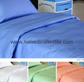 Hospital Bed Linen of pure colors (bed sheet pillow case and duvet cover)