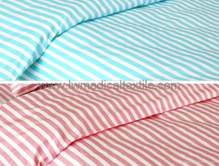CVC stripes Hospital Bed Linen (bed sheet pillow case duvet cover) 1