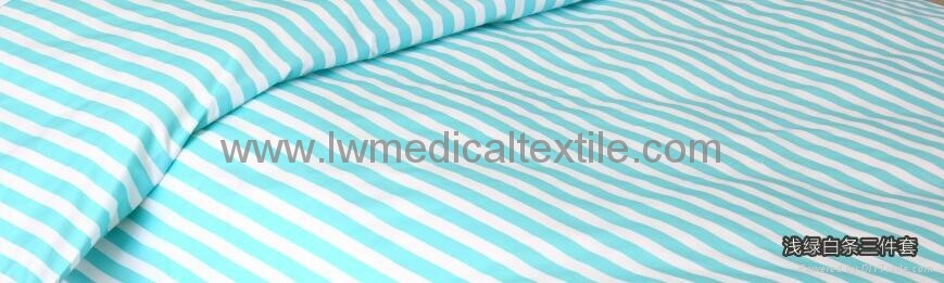 CVC stripes Hospital Bed Linen (bed sheet pillow case duvet cover) 3