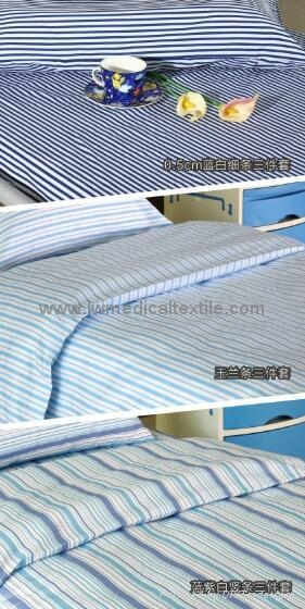 yarn dyed stripes Hospital Bed Linen (bed sheet pillow case duvet cover) 1
