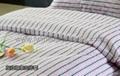 yarn dyed stripes Hospital Bed Linen (bed sheet pillow case duvet cover)