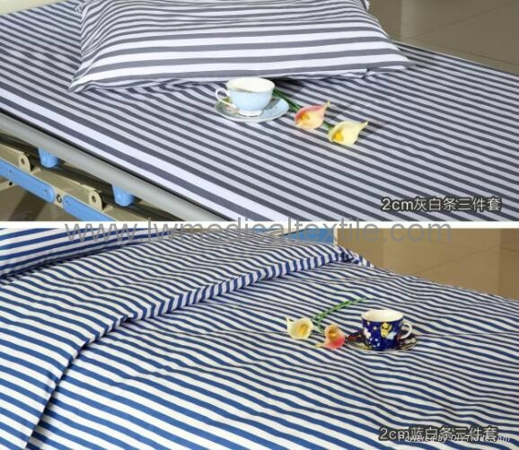 yarn dyed stripes Hospital Bed Linen (bed sheet pillow case duvet cover) 3