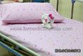 Hospital Bed Linen with flower design