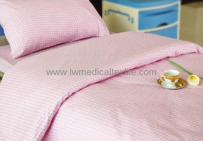 Hospital Bed Linen with flower design (bed sheet, pillow case duvet cover)  3