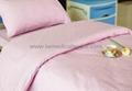 Hospital Bed Linen with flower design (bed sheet, pillow case duvet cover)