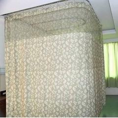 Double-side Printed Permanently flame retardant Hospital Cubicle Curtain