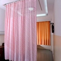 Double-side Printed Permanently flame retardant Hospital Cubicle Curtain 3