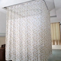 Double-side Printed Permanently flame retardant Hospital Cubicle Curtain 4