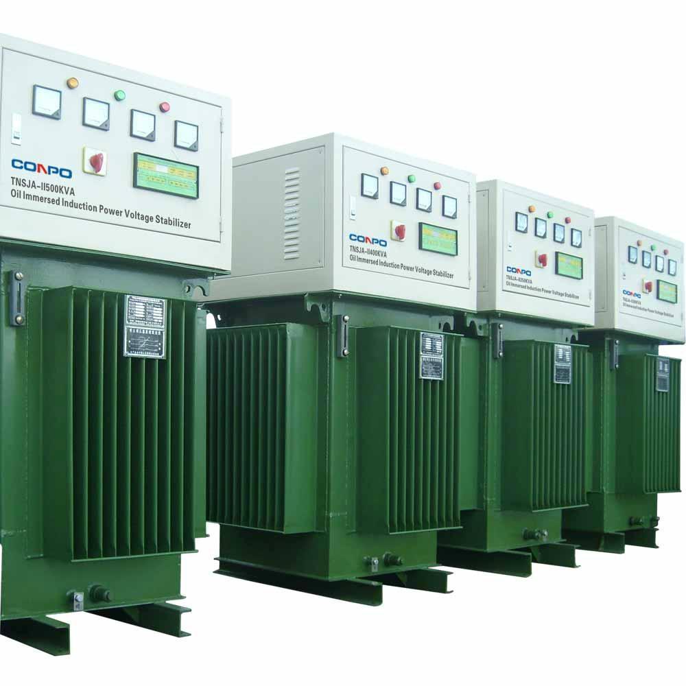 Oil type immersed Induction Voltage Stabilizer regulator TNSJA-II-500KVA 1