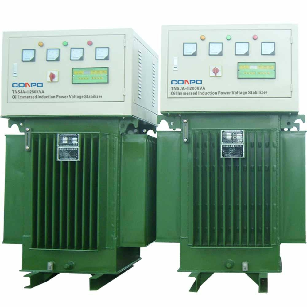 Oil type immersed Induction Voltage Stabilizer regulator TNSJA-II-500KVA 3