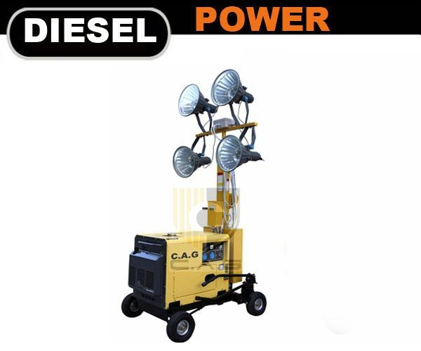 4x400w Mobile Light Tower Tpzm3 Top Power China