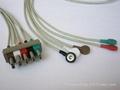 太空五导扣式心电导联线