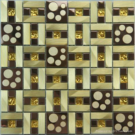六角形不锈钢马赛克 金属马赛克 4