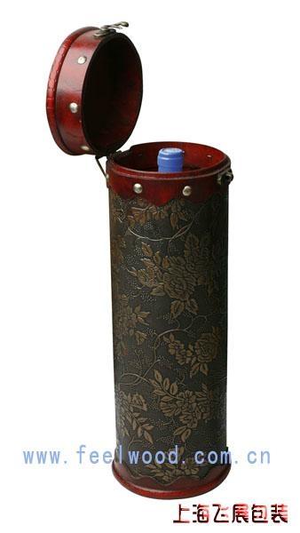 仿古單支圓筒酒盒 1
