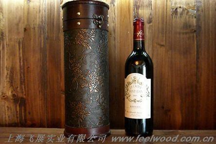 仿古單支圓筒酒盒 2