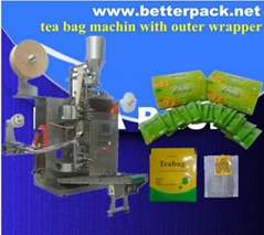 tea bag packer tea bag packing machine with outer envelope