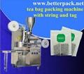 label tea bag packing machine tea bag