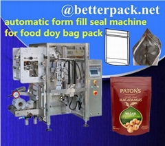 automatic doy bag forming filling sealing packing system