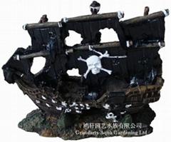 树脂沉船工艺品