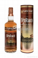 班瑞克波特换桶15年单一麦芽威士忌