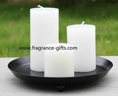 柱形蜡烛----铁制烛台